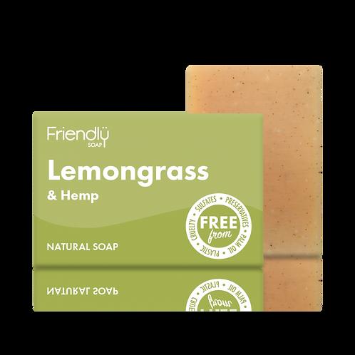 Friendly Soap Lemongrass and Hemp Vegan Soap Bath Bar Natural Handmade Soap
