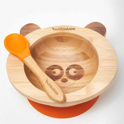 Organic Bamboo Baby Bowl Set - Orange - Bubbaboo
