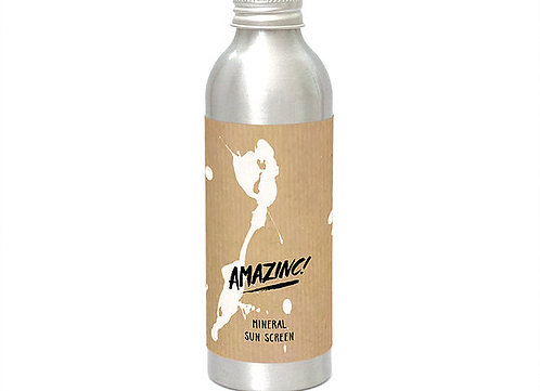 Amazinc Vegan Mineral Sunscreen Aluminium Bottle spf 50 150ml