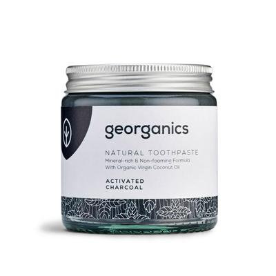 Georganics Natural Toothpaste Activated Charcoal 60ml Glass jar