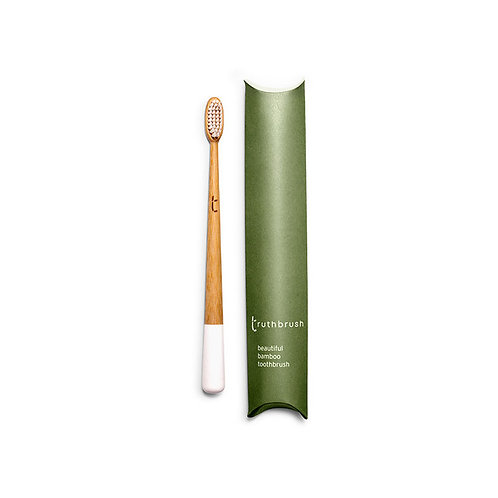 Truthbrush cloud white toothbrush medium plant based bristles