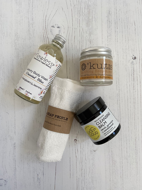 Mothers Day Luxury Eco Wash Kit, Flawless Beauty, Kutis Skincare, Lucky Cloud, The Soap People