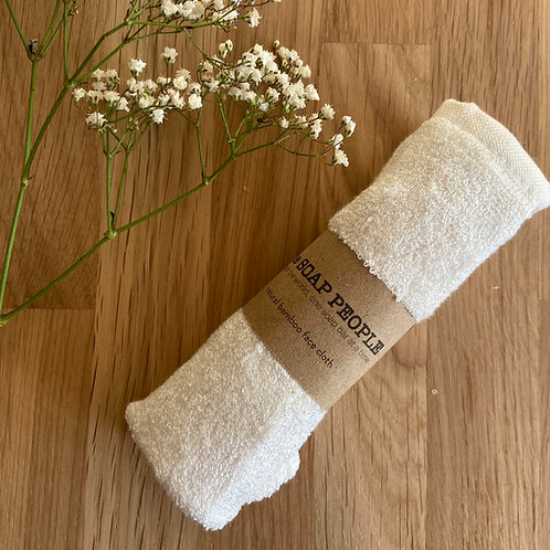 The Soap People Bamboo face cloth with baby's breath flowers