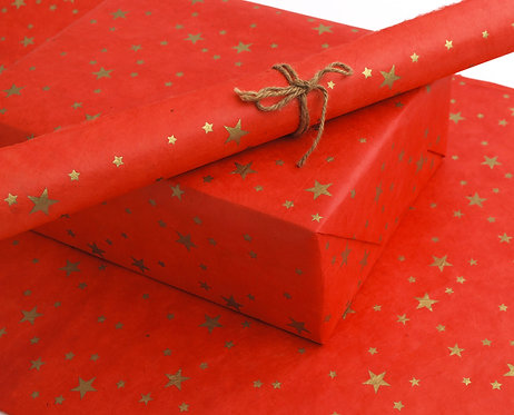 Happy Wrap red cherry lokta paper