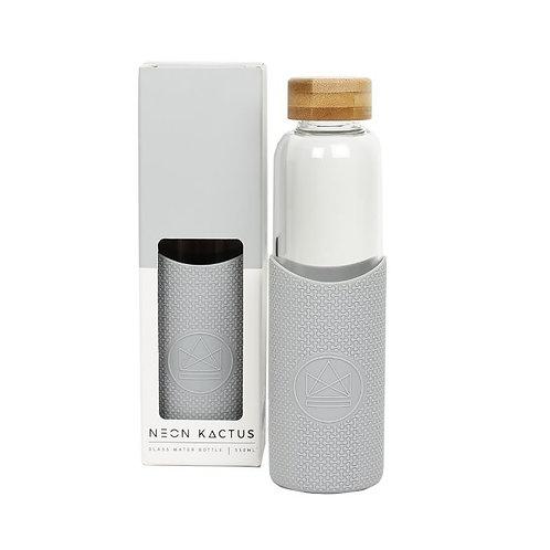 Neon Kactus Grey Glass 550ml Water Bottle