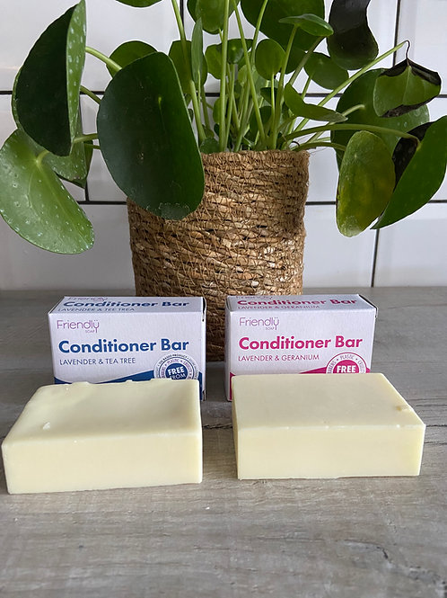 Solid Vegan Conditioner  Bars - Friendly Soap Lavender & TeaTree and Lavender & Geranium