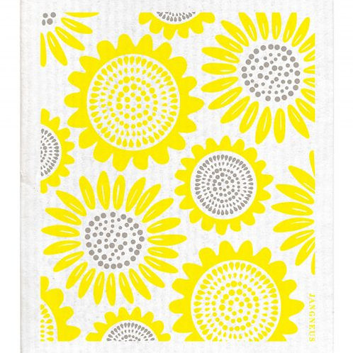 Yellow Sunflower Compostable Dishcloth - Jangneus