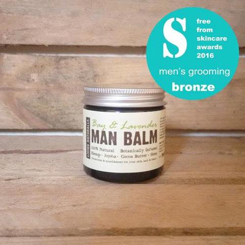 Botanic Man Balm Moisturiser- Bay & Lavender - Living Naturally