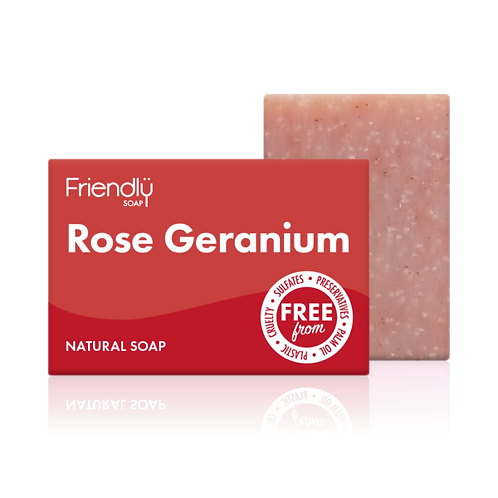 Rose Geranium Soap Bar Friendly Soap - Natural, Vegan Plastic Free