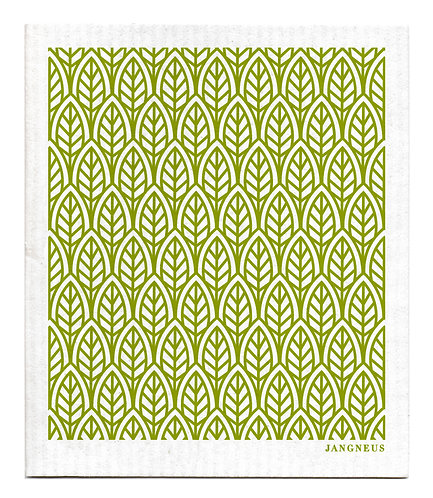 Green Leaves Compostable Dishcloth - Jangneus