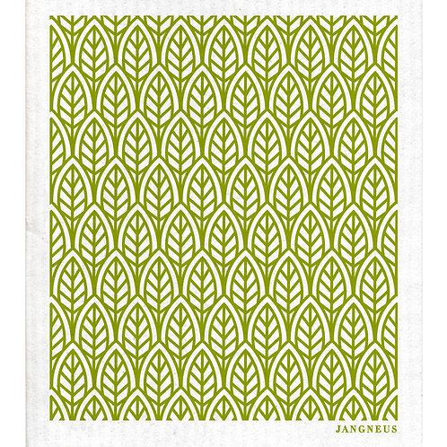 Green Leaves Compostable Dishcloth - Jangneus
