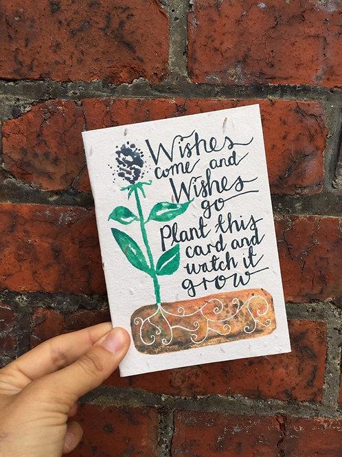 Loop Loop Wishes Plantable wildflower Card