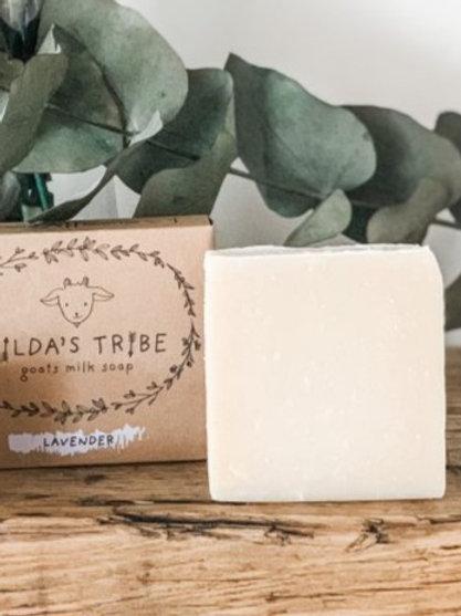 Lavender Natural Goats Milk Soap Bar Tilda's Tribe 100g