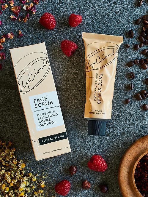 UpCircle Coffee Face Scrub 100 ml - Floral Blend Flatlay