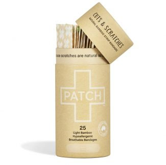 Patch Strips Natural Plastic Free Plasters Open Tube of 25