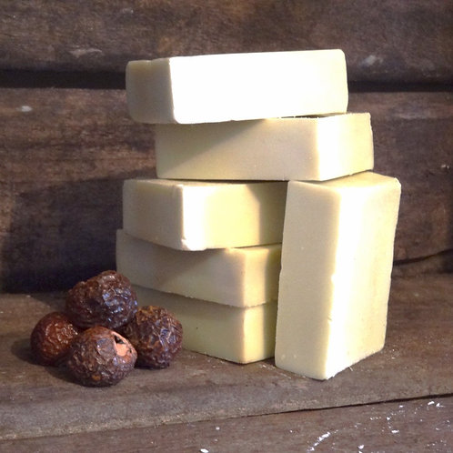 Living Naturally Castile Unscented Olive Oil Soap with Soapnuts