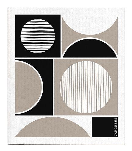 Black Circles Compostable Dishcloth - Jangneus