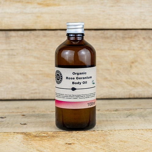 Organic Rose Geranium Body oil Heavenly Organics 100ml