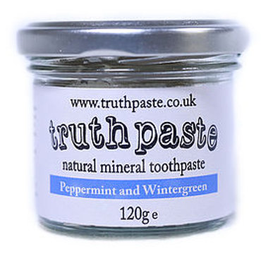 Truthpaste natural mineral toothpaste glass jar 120g peppermint and wintergreen