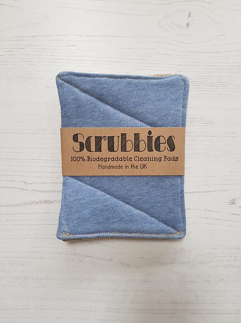 Srubbies UK Pale blue Unsponges twin pack