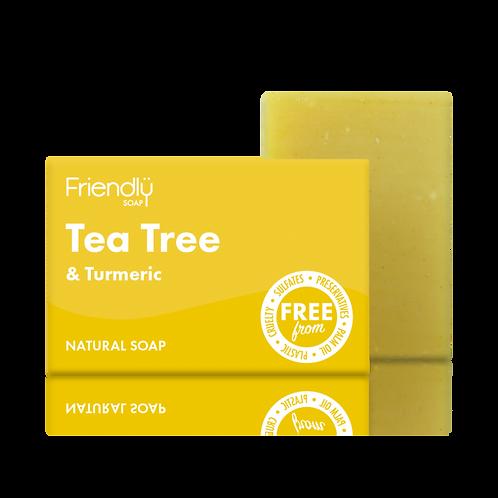 Friendly Soap Tea Tree and Turmeric Vegan Soap Bath Bar Natural Handmade