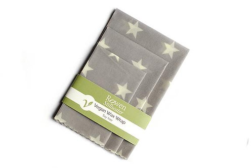 Rowen Stillwater Grey Star Vegan Wax Wraps 3 pk