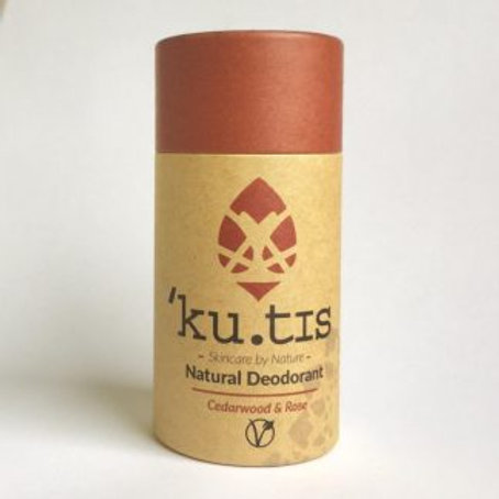 Kutis Natural Vegan Deodorant Cedarwood and Rose
