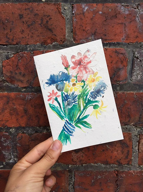 Loop Loop bouquet Wildflower Plantable card