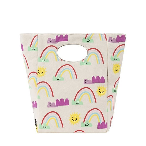 Fluf Rainbows lunch bag front view