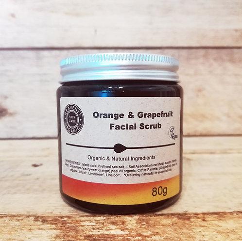Orange & Grapefruit Facial Scrub - Heavenly Organics
