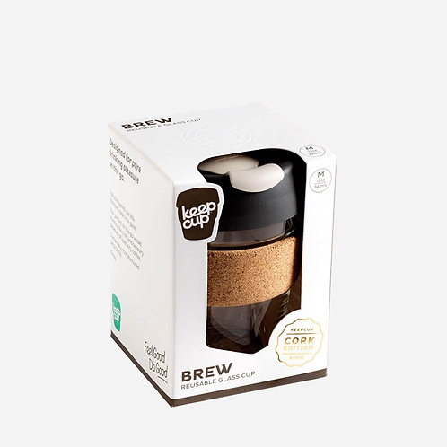 Keepcup brew cork edition soft charcoal 12oz with box