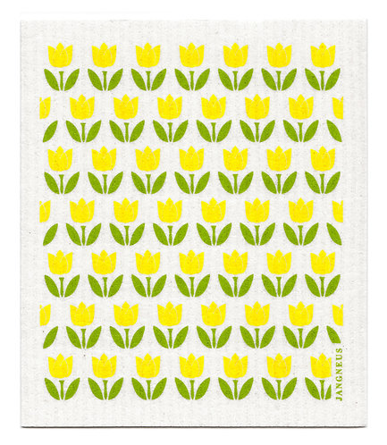 Yellow Small Tulip Compostable Dishcloth - Jangneus