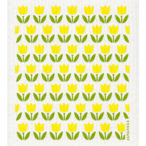 Yellow Small Tulip Compostable Dishcloth - Jangneus