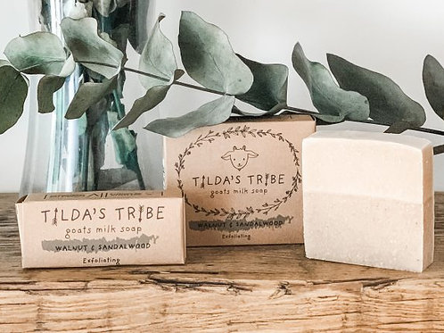 Walnut & Sandalwood Natural Goats Milk Soap - Tilda's Tribe 100g