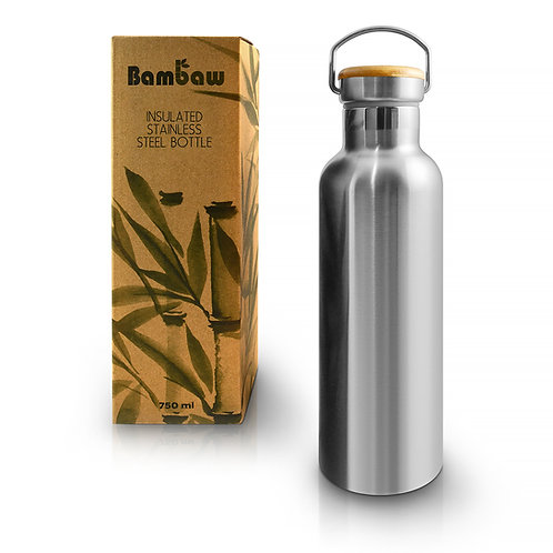 Bambaw 750 ml stainless steel drinks bottle with box insulated
