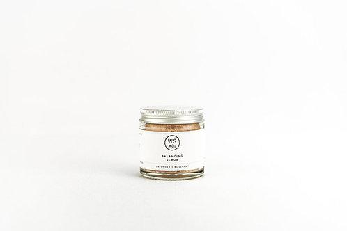 Wild Sage and Co Balancing Salt Scrub in glass jar