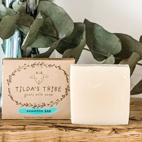 Geranium & Pine Needle Natural Goats Milk Shampoo - Tilda's Tribe