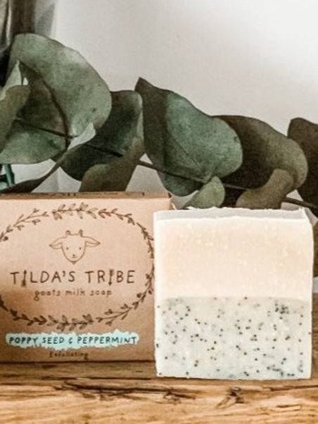Poppy Seed & Peppermint Natural Goats Milk Soap - Tilda's Tribe