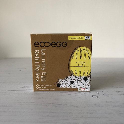 Ecoegg fragrance free refill pellets in box