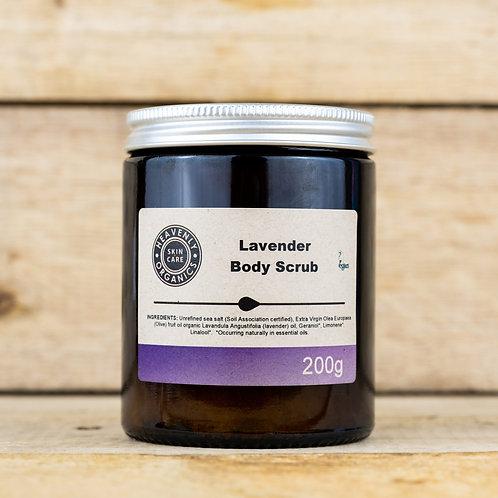 Heavenly Organics Lavender Moisturising Body Scrub 200g
