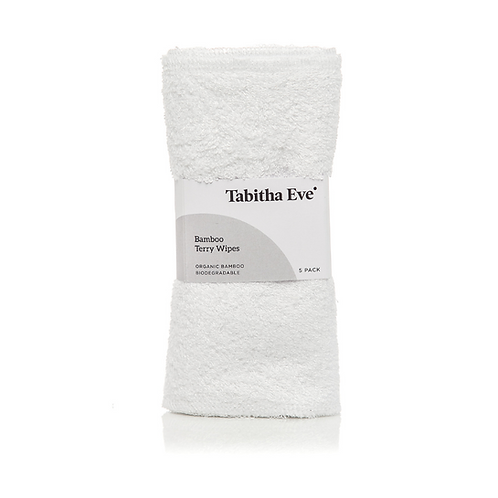 Tabitha Eve Set of 5 Bamboo Terry Wipes