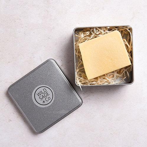 Wild Sage & Co Lemongrass & Tea Tree Handmade Vegan Soap In Soap Tin