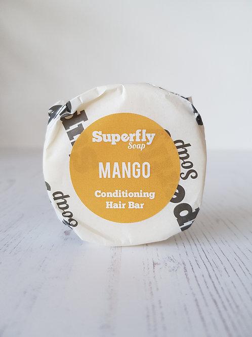 Superfly soap conditioning mango circular hair bar