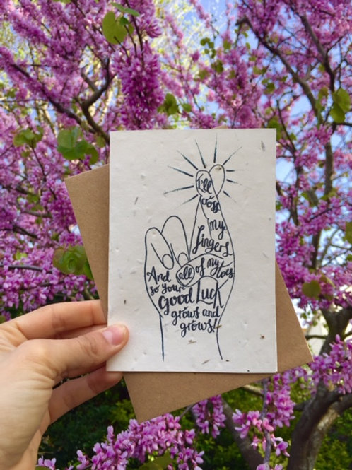Loop Loop Good Luck plantable wildflower cards