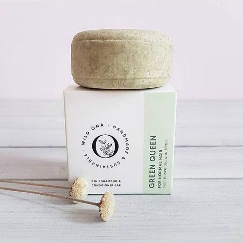 Green Queen - 2 in 1 Shampoo & Conditioner Bar - Wild Ona