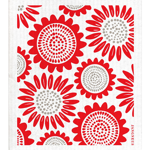Red Sunflower Compostable Dishcloth - Jangneus