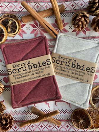 Burgundy & Cream Unsponges - Twin Pack - Scrubbies