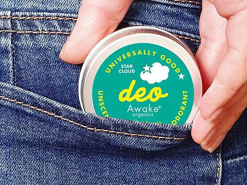 Awake Organics Star Cloud - Unscented Natural Deodorant for Sensitive Skin 55g tin