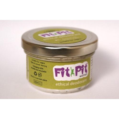 Fit Pit Woman 100ml Natural Vegan & Plastic Free Deodorant