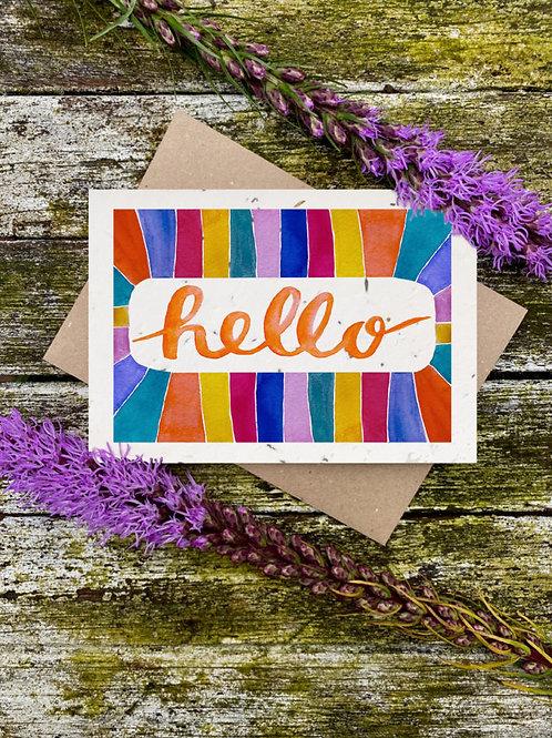 Hello Plantable Wildflower Card - Loop Loop
